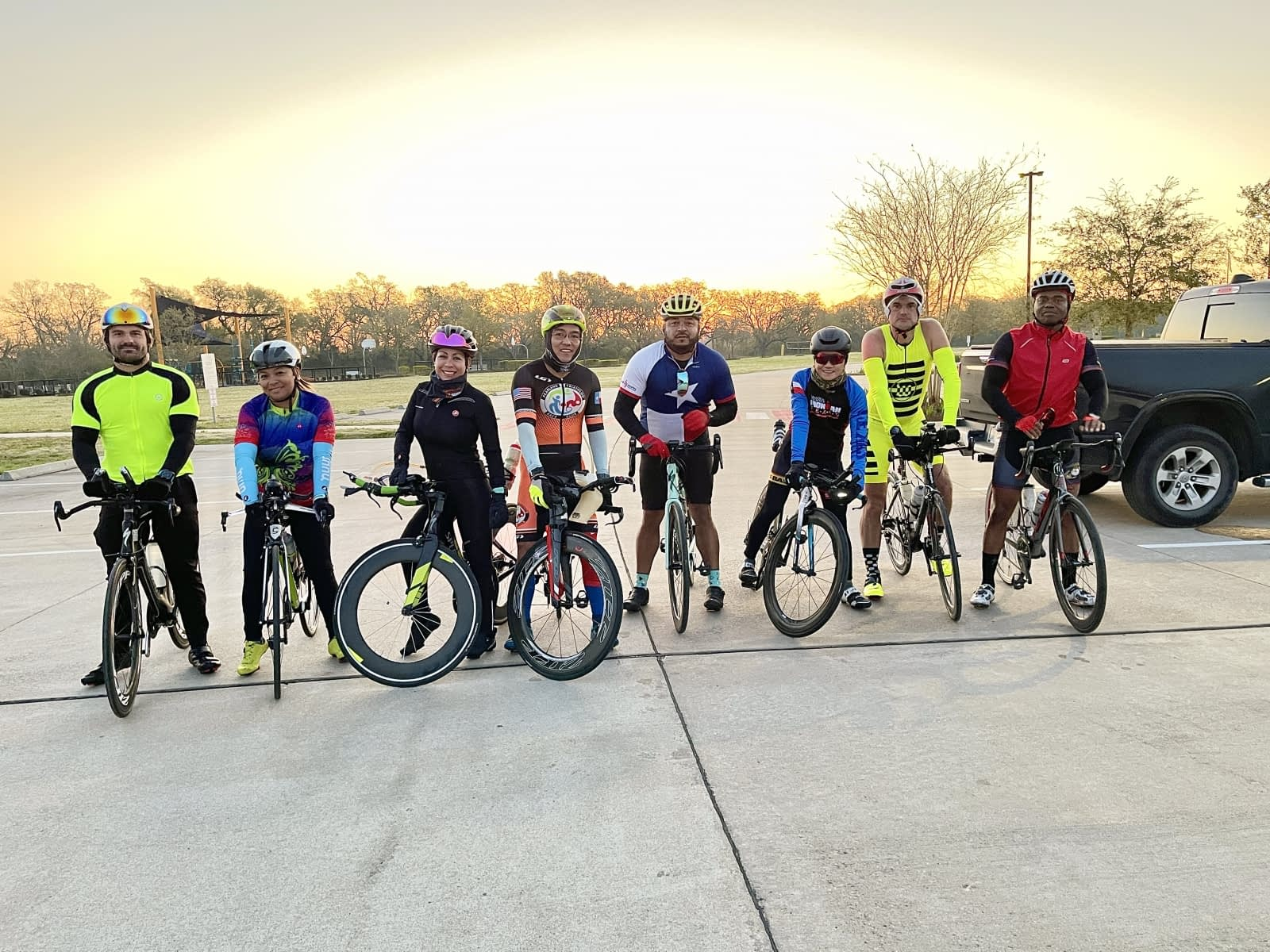 Pearland Triathlong Racing Club pre-ride