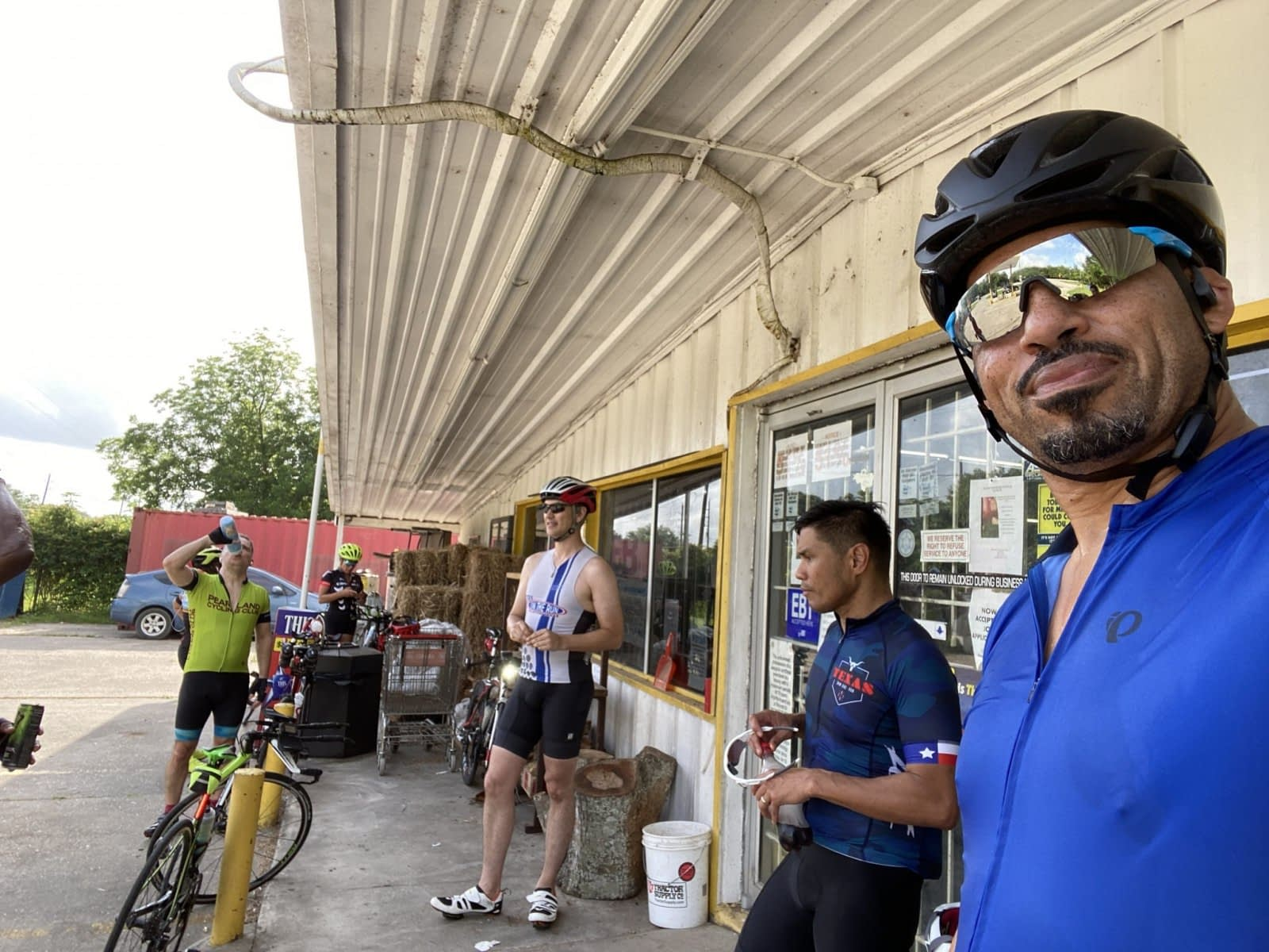 Group at the rest stop