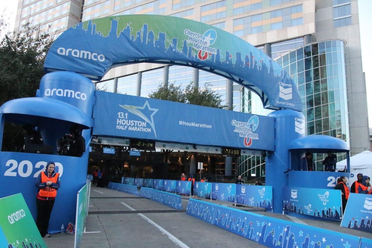 Chevron Houston Marathon Finish line